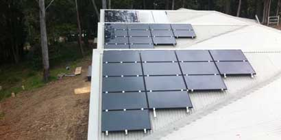Q Cells CIGs Thin Film Solar Installation