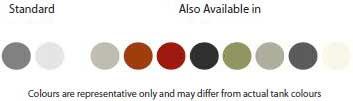 Roof Mount Tank Colorbond Colours