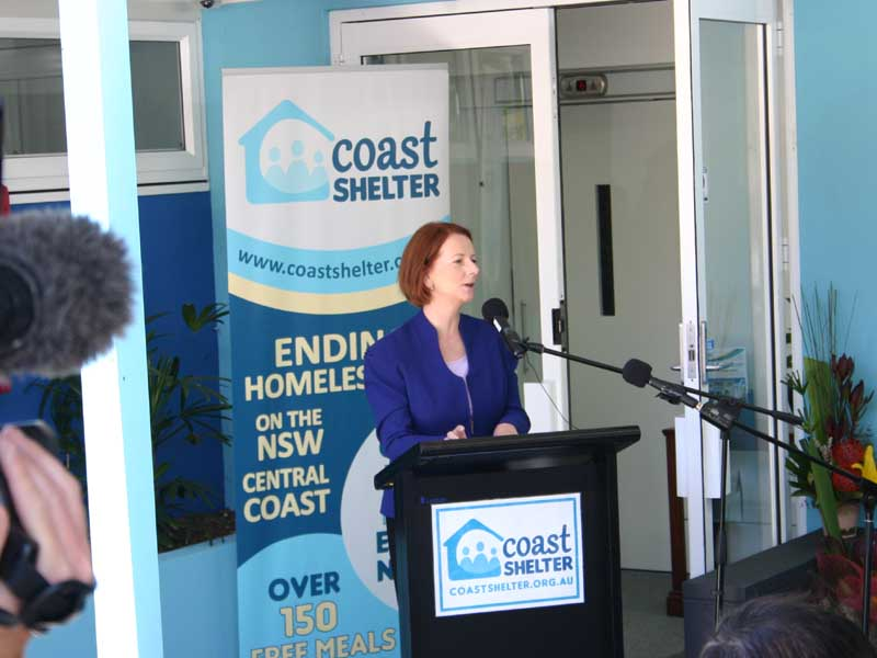 Coast Shelter Opening Ceremony Julia Gillard
