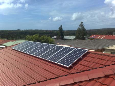Solar Power Hamlyn Terrace NSW