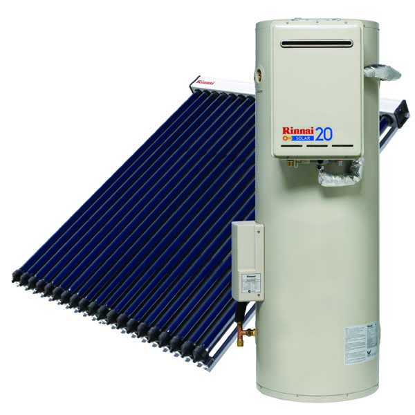 Rinnai solar evacuated tubes VE tank
