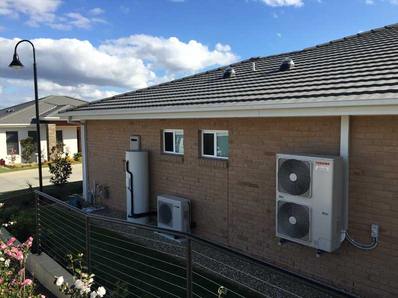 Sanden Heat Pump Hot Water System Forresters Beach NSW
