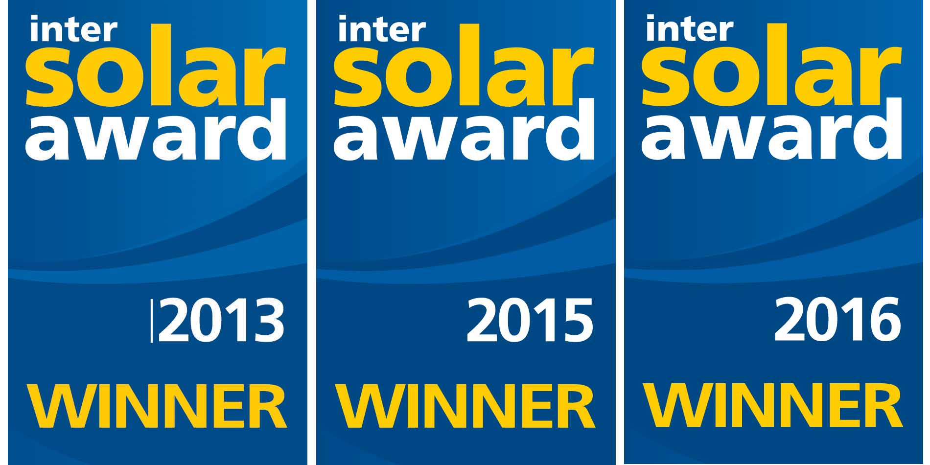 InterSolar-Award_ 2013, 2015 & 2016 LG NeOn R Solar Modules