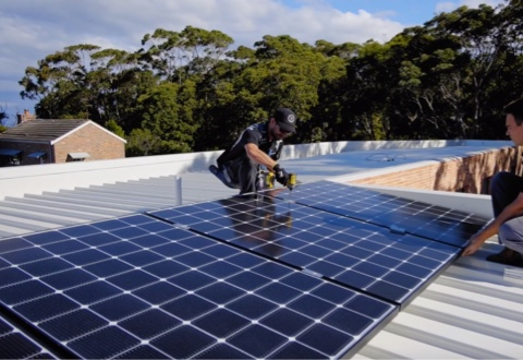 Installation of LG solar power system at Point Clare, NSW