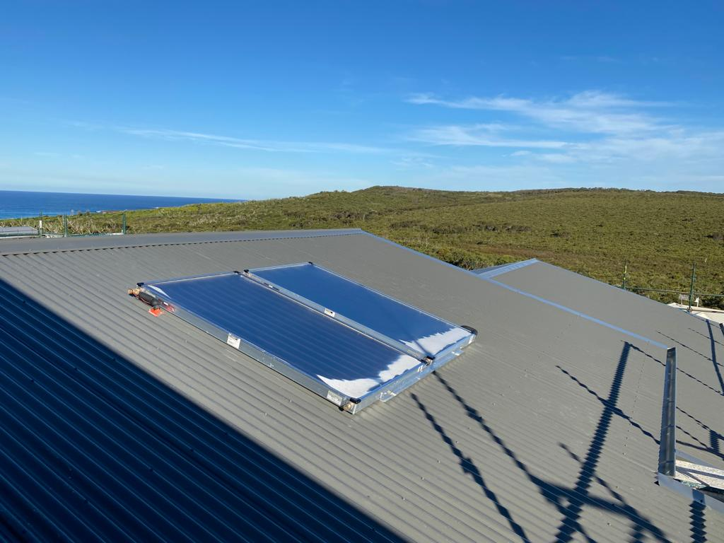 Catherine Hill Bay roof with split solar hot water system installed